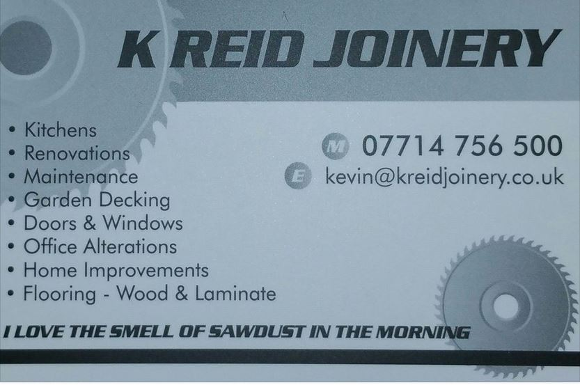 Aberdeen Joiner brought to you by Kevin Reid Joinery services.